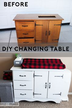 DIY Chalkpaint changing table from dresser-81