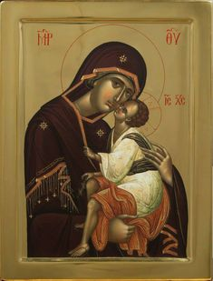 The Virgin of Tenderness. Religious Images, Religious Icons, Religious Art, Byzantine Icons, Byzantine Art, Greek Icons, Black Jesus, Best Icons, Book Of Hours