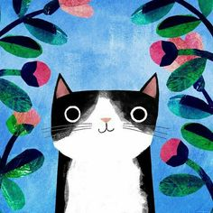 Cats Reference Playing - Tabby Cats Colors - - Cats And Kittens Dogs - - Cool Cats Stuff Art And Illustration, Cat Illustrations, I Love Cats, Crazy Cats, Cat Background, Background Ideas, Art Mignon, Illustrator, Cat Sketch