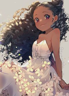 Manhwa, Black Girl Art, Black Women Art, Anime Child, Anime Art Girl, Manga Girl, Black Cartoon, Cartoon Art, Girl Cartoon