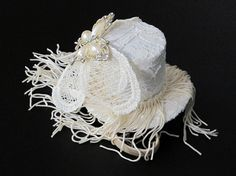 Mini Top Hat Tea Party Shabby Chic Wedding Vintage by JerseyBride