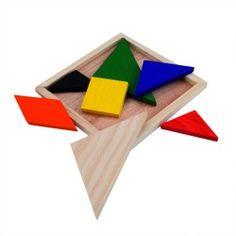 Puzzle Tangram. De madera.