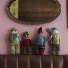 All the little Berties in a row.  Bertie is from our book 'Juju's Loops' at Loop London