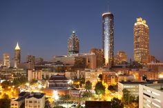 Downtown Atlanta GA skyline