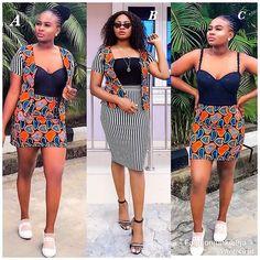 Ankara Short Skirt and Blouse Styles 2019: for Ladies ~ Dezango Hub