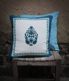 The classic block printed Sanganeri design will liven up any dull piece of furniture. Reversible with a hidden zip. Cushion cover is and cotton. Cushion Covers, Home Furnishings, Cushions, Printing, Throw Pillows, Zip, Classic, Creative, Cotton