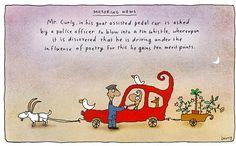 Motoring News - Michael Leunig Under The Influence, Living Treasures, Creative Writing Ideas, Tin Whistle, Shel Silverstein, National Treasure, Australian Artists, Buy Prints, Inspirational Thoughts