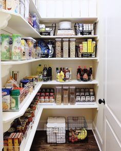 New kitchen organization diy pantry laundry rooms Ideas Pantry Room, Pantry Closet, Walk In Pantry, Under Stairs Pantry, Pantry Shelving, Pantry Storage, Kitchen Storage, Shelving Ideas, Shelf Ideas