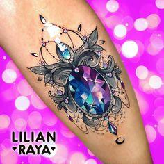 Tattoo Ideas – About Gem Tattoo, Jewel Tattoo, Crystal Tattoo, Lace Tattoo, Piercing Tattoo, Girly Tattoos, Pretty Tattoos, Beautiful Tattoos, Body Art Tattoos