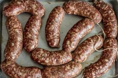 Homemade Bratwurst – German Sausage Recipes.  Includes recipe for beer bath.  Yum