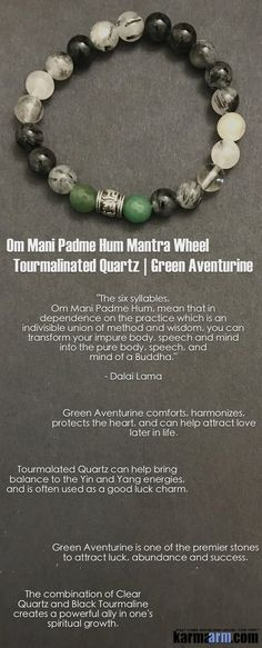 Yoga Bracelets. Quartz. Om Mani Padme Hum.  I Law of Attraction | #LOA | Beaded & Charm Yoga Mala I Meditation & Mantra I Spiritual.