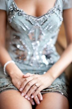 Sparkling accented dress