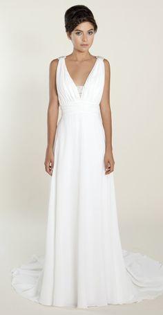 Arya by Winnie Couture Chiffon Greek Wedding Dress