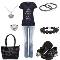 """Keep Calm and Play Ball"" by jklmnodavis on Polyvore"