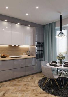 Regardless of whether you're planning for a move to another house or you essentially need to a kitchen redesign, these astounding kitchen Minimalist But Luxurious Kitchen Design thoughts will prove to be useful. Luxury Kitchen Design, Kitchen Room Design, Contemporary Kitchen Design, Kitchen Sets, Luxury Kitchens, Kitchen Layout, Interior Design Kitchen, New Kitchen, Kitchen Decor