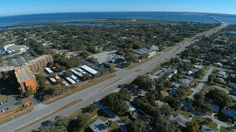 McMullen Booth Rd, near Ruth Eckerd Hall with Tampa Bay in Background http://tampaaerialmedia.com/