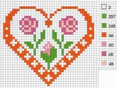 Heart Love perler bead pattern
