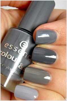 shades of gray mani