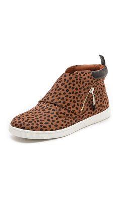 Rebecca Minkoff Deacon Haircalf Zip Sneakers. www.topshelfclothes.com