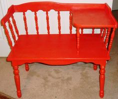 Vintage Telephone Bench Table / Mid Century by BLISSHomeGarden, $125.00