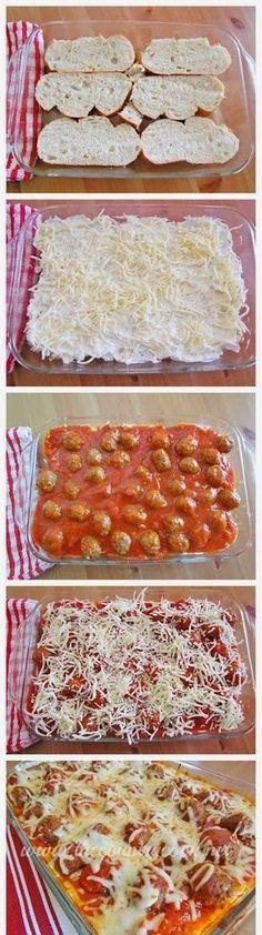 Meatball Sub Casserole. 30 Minute Dinner Recipe!   See more about meatball subs, 30 minute dinners and dinner recipes.