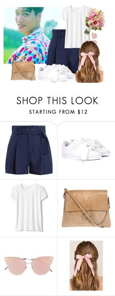 """my beautiful flower."" by loveisgoneaway on Polyvore featuring Mode, Sea, New York, Puma, So.Ya, Francesca's, EXO, kai, kimjongin und exol"
