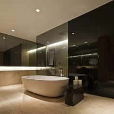 Modern Interiors Of Bathroom Ideas Use Marble Flooring Tile And Incredible Modern Interiors Inspirations modern kitchen design. modern home furniture. contemporary homes interior. modern home design furniture. Modern Bathrooms Interior, Modern Master Bathroom, Contemporary Bathrooms, Bathroom Interior Design, White Bathrooms, Contemporary Homes, Luxury Bathrooms, Master Bathrooms, Minimalist Bathroom