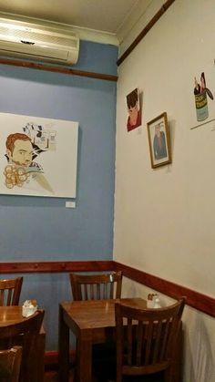 Exhibiting at Cinnamon Village Cafe, Islington