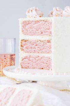 This Pink Champagne Cake is the perfect way to celebrate any occasion or holiday! A champagne infused cake with a classic vanilla buttercream. Beautiful Cakes, Amazing Cakes, Pink Champagne Cake, Pink Foods, Vanilla Buttercream, Buttercream Recipe, Frosting, Specialty Cakes, Cake Flavors