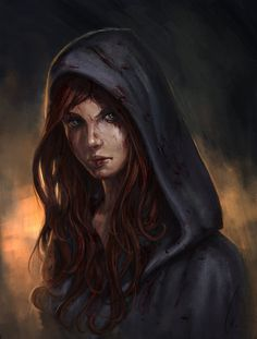 Resurrection by charro-art - also good for Alene, maybe in the last chapter. The anger and desperation are great. I love the quiet, blazing look in her eyes. One thing -- no hoods on anybody. The story takes place in summer.
