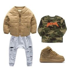 Baby boy swag outfits sons children ideas for 2019 Outfits Niños, Toddler Outfits, Baby Boy Outfits, Fashion Outfits, Boys Clothes Style, Trendy Baby Boy Clothes, Clothes Swag, Children Clothes, Baby Boy Swag