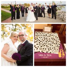 Music Wedding Canvas | Guest Book Alternative | Music Themed Wedding | Musical Notes | Musical Instruments | Jazz Themed Wedding | Saxophone | Customer Photo | Wedding Colors - Violet, White, & Black | peachwik.com
