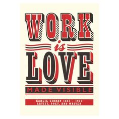 James Brown Work is Love Print £45.00 - Living - Prints & Posters ILLUSTRATED LIVING