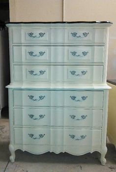Chest on Chest Dresser French Provincial by ProvincialButFrench