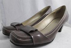 Womens Kenneth Cole Reaction Patent Leather Pumps Pewter Size 10 #KennethCole #PumpsClassics