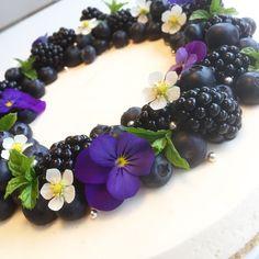 Ostekake Blackberry, Cakes, Fruit, Desserts, Image, Food, Pineapple, Tailgate Desserts, Blackberries