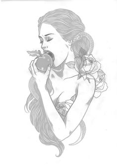 my next tattoo, been wanting this for years! gunna add more roses, have a better snake, (and maybe give eve some tats and a day of the dead face), maybe throw in an anchor? and get it on my side...sounds like a lot but just ideas.. in the end i know it will look amazingg! <3