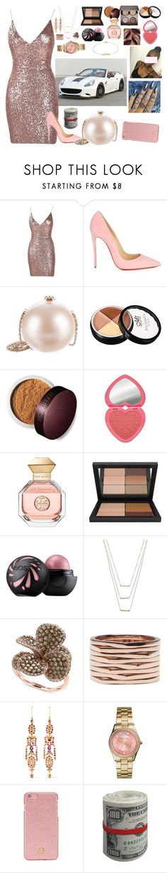 """""""✨"""" by cissylion ❤ liked on Polyvore featuring Ferrari, Christian Louboutin, Chanel, Laura Mercier, Too Faced Cosmetics, Tory Burch, Urban Decay, ERTH, Effy Jewelry and Repossi"""