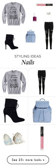 """""""Untitled #5216"""" by mie-miemie on Polyvore featuring Miss Selfridge, GUESS, Vera Bradley, NARS Cosmetics and Essie"""