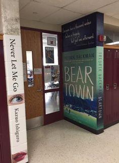 High School Transforms Hallways Into Iconic Book Covers - Bookish Buzz School Hallway Decorations, Hallway Decorating, Classroom Decor, Library Decorations, Hallway Ideas, Classroom Displays, Decorating Ideas, School Hallways, School Murals