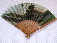 Vintage Pagoda FAN by vintagous on Etsy, $14.00
