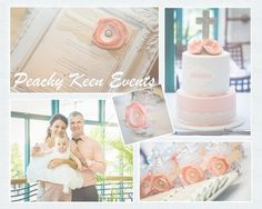OLIVIA: Pink Lace Baptism Invitation Pink by peachykeenevents