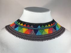 Aztec Necklaces, Handmade Necklaces, Mexican Jewelry, Beading Techniques, American Traditional, Beautiful Gifts, Cute Earrings, Fashion Necklace, Necklace Lengths