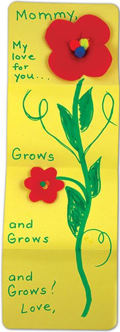 "Mother's Day Card...""Mommy, my love for you grows and grows and grows!"""