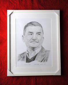 Martin Huba, portrét v ráme. Dušan Dudo Hanes