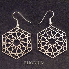 "Earrings with Islamic Geometric Patterns made by ""JAMES"" on www.etsy.com"