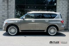 Infiniti with Black Rhino Spear Wheels exclusively from Butler Tires and Wheels in Atlanta, GA - Image Number 9735 Infinity Qx, Infiniti Qx 80, Buick Gmc, Luxury Suv, New Trucks, Japanese Cars, Expensive Cars, Sexy Cars, Future Car