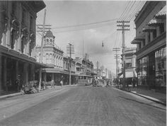 King Street, Honolulu.  King Street looking toward Fort Street with streetcar in the background.  CIRCA 1910