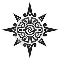 Mayan or Incan Sun Symbol.                              …
