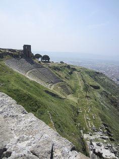 Ruins of the ancient city of Pergamon near Bergama Turkey